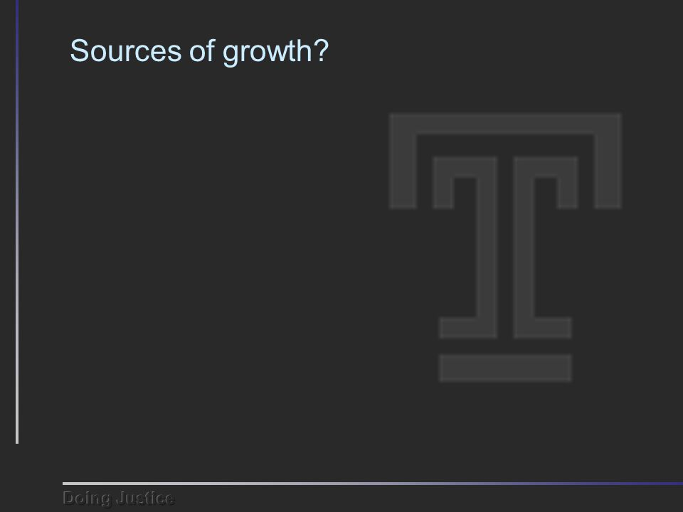 Sources of growth