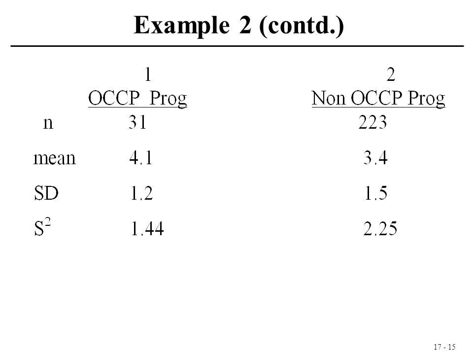 17 - 15 Example 2 (contd.)