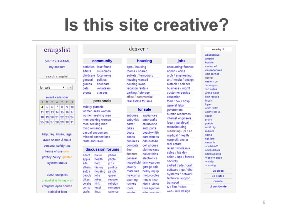 8 Is this site creative