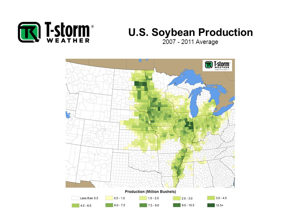 U.S. Soybean Production 2007 - 2011 Average
