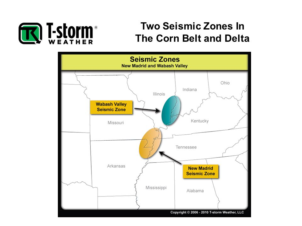 Two Seismic Zones In The Corn Belt and Delta