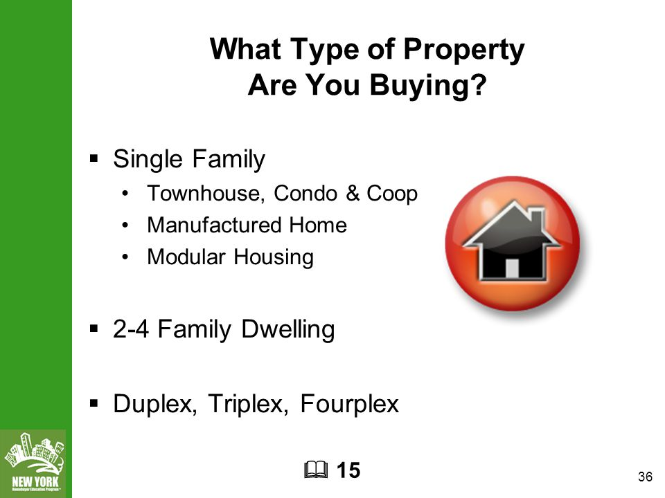 36 What Type of Property Are You Buying.