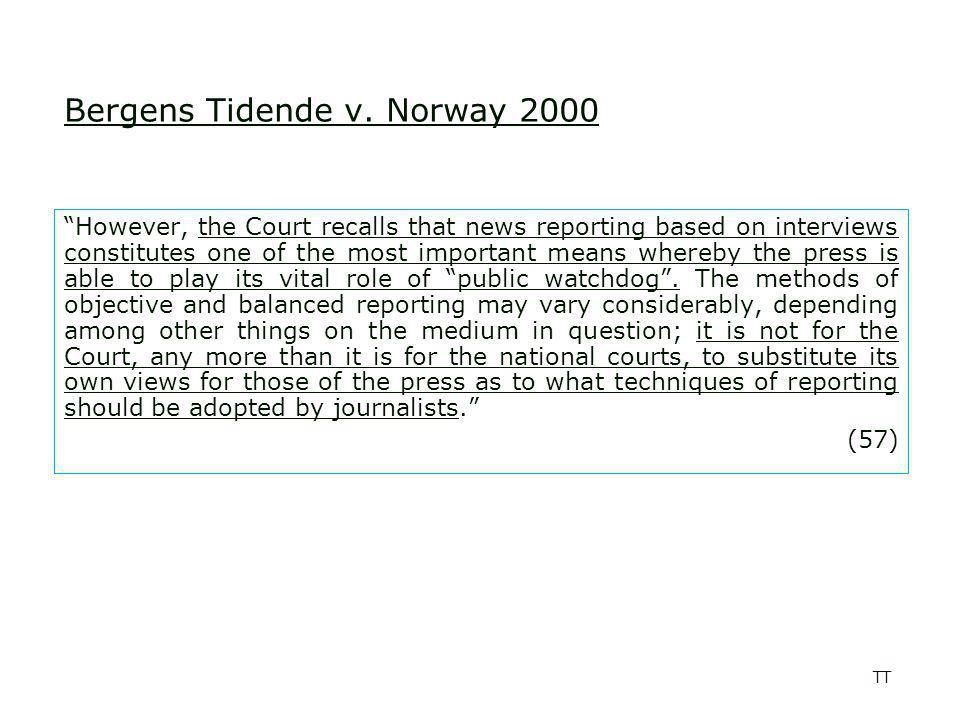 TT Bergens Tidende v.
