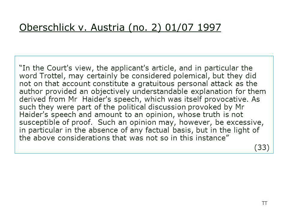 TT Oberschlick v.Austria (no.