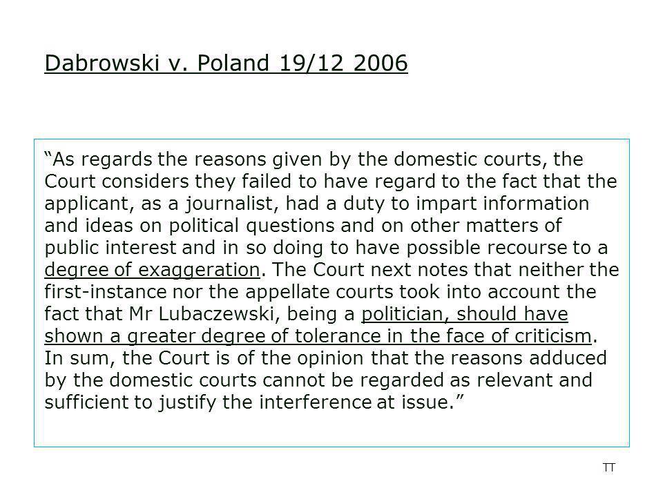 TT Dabrowski v.
