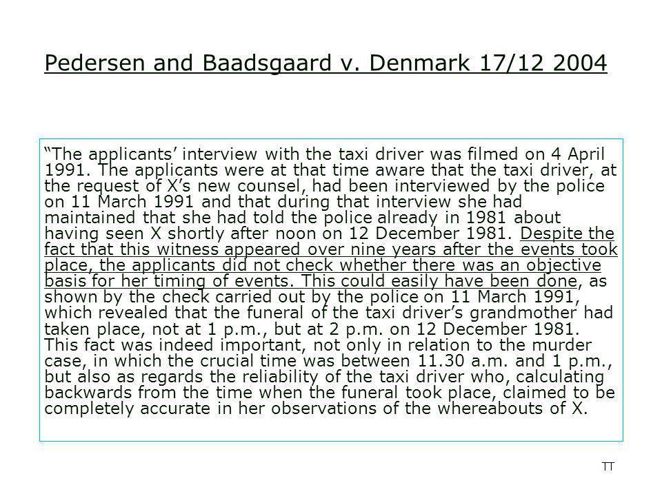 TT Pedersen and Baadsgaard v.