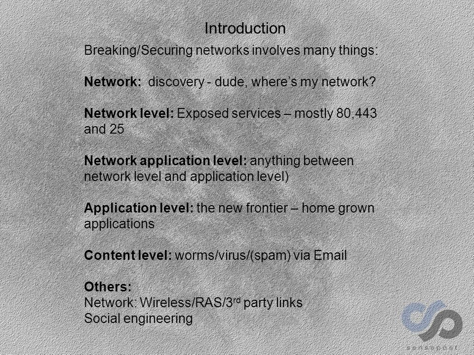 Application level E-Or – enough talking – let's see some action