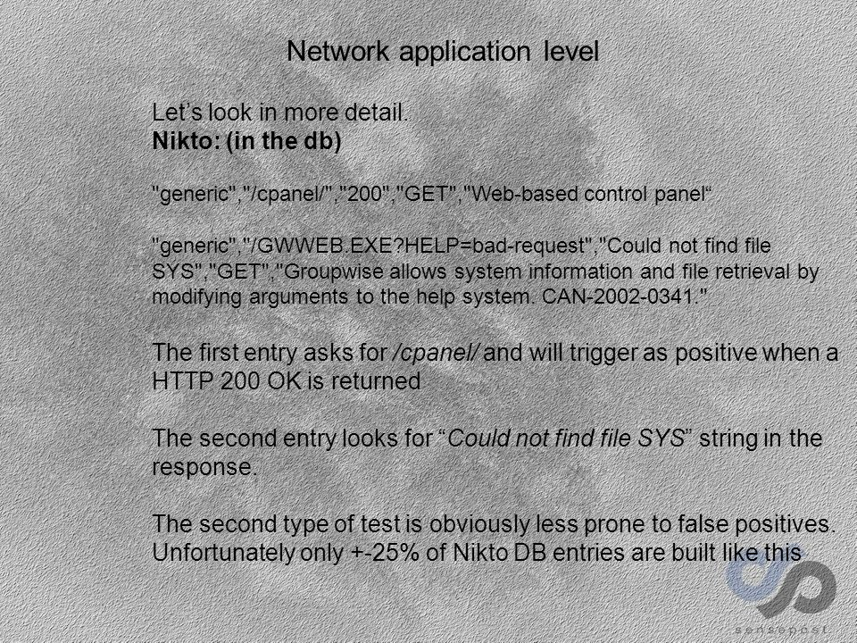 Application level E-Or – a short history 2002-q2: Mieliekoek (corncake): Mirrors site via HTTTrack and finds all actions that handle parameters.