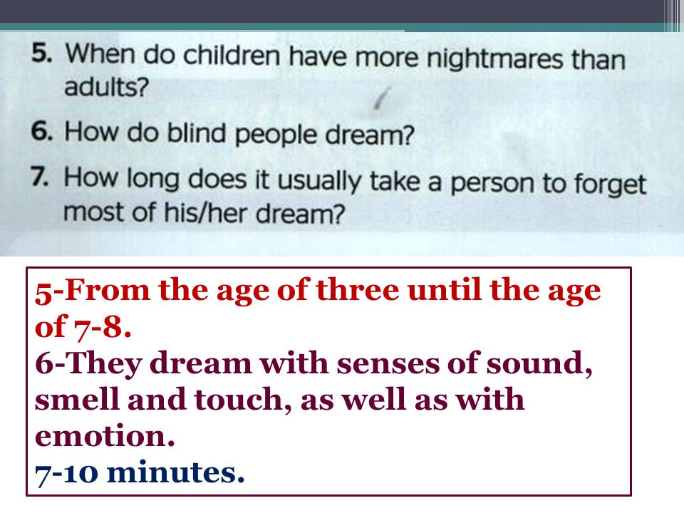 5-From the age of three until the age of 7-8.