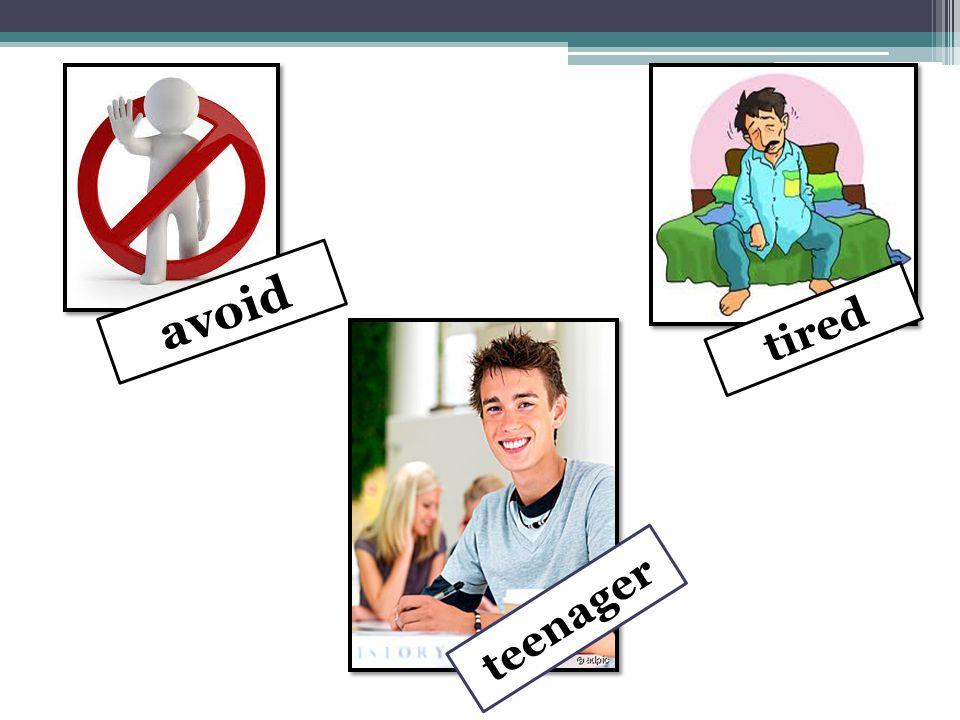 avoid tired teenager