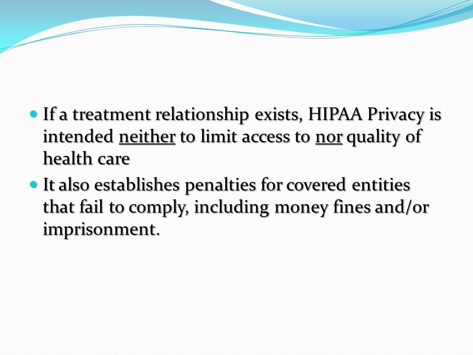 Comparison—Waivers of Authorization or IC Requirements HIPAA Privacy RuleDHHS Protection of Human Subjects FDA Protection of Human Subjects Allows waiver or alteration of authorization when IRB or Privacy Officer/Privacy Board deems following are met: a.Use/disclosure involves no more than minimal risk to privacy because the following exist: 1.Adequate plan to protect IIHI from improper use or disclosure 2.An adequate plan to destroy IIHI at earliest opportunity absent health or research justification or legal req.
