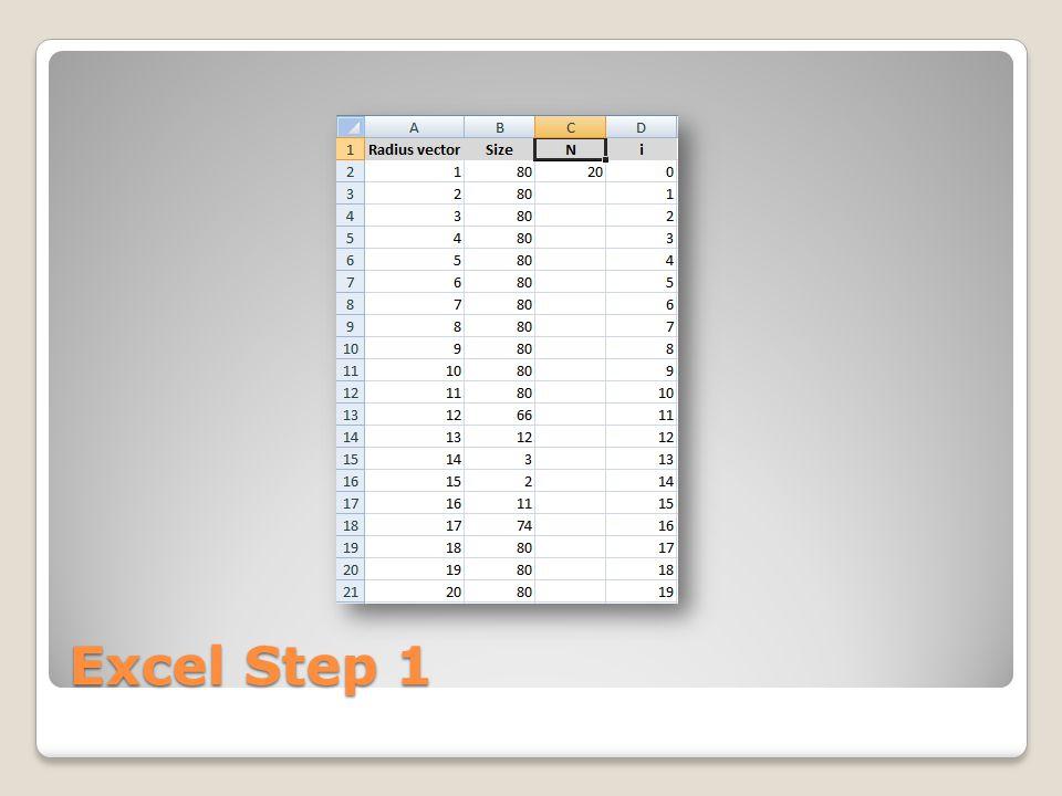 Excel Step 1