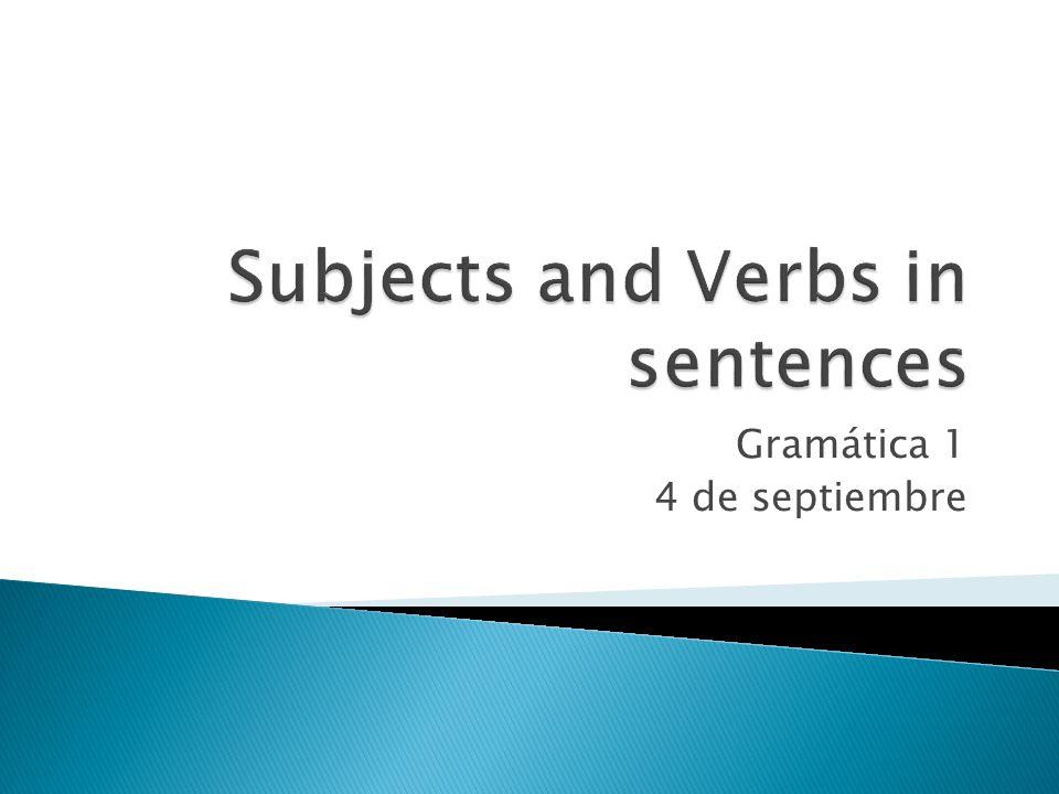 Gramática 1 4 de septiembre