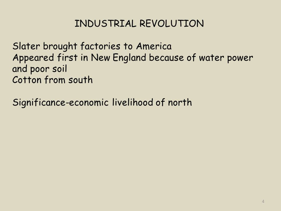 IRISH IMMIGRANTS Labor source for northern factories Came to America because of potato famine Significance-labor source for factories 25