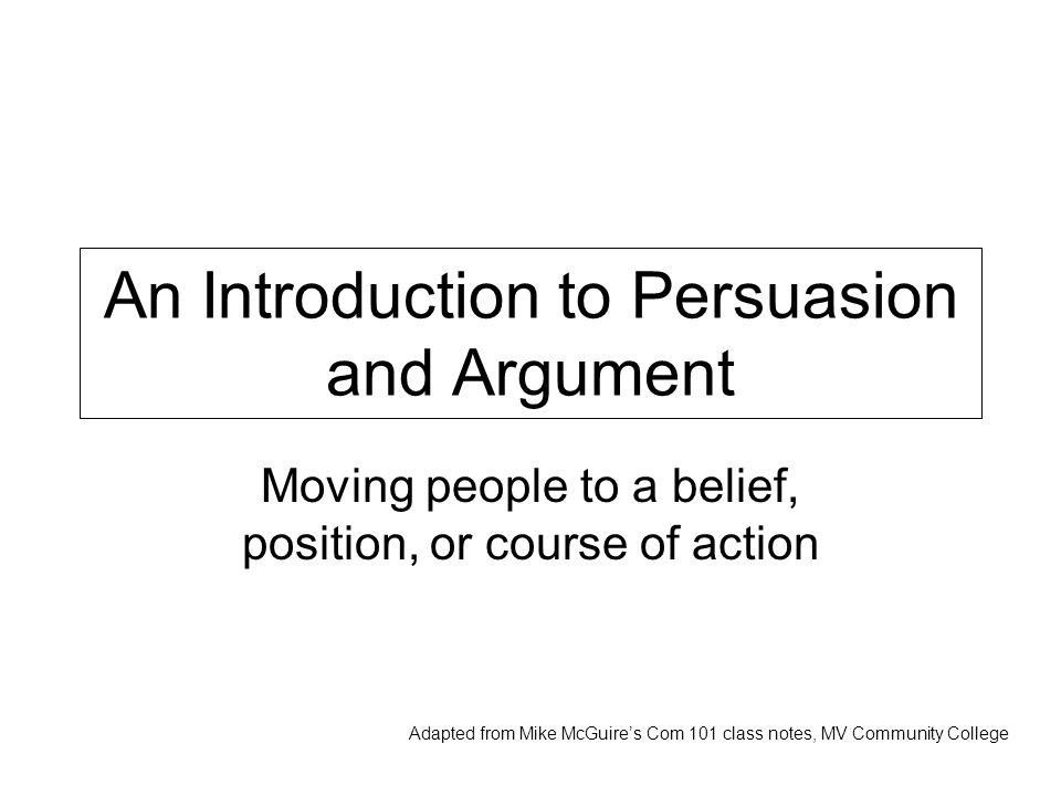 Persuasion vs.