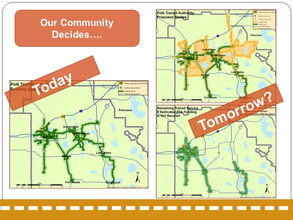 Our Community Decides…. Today Tomorrow