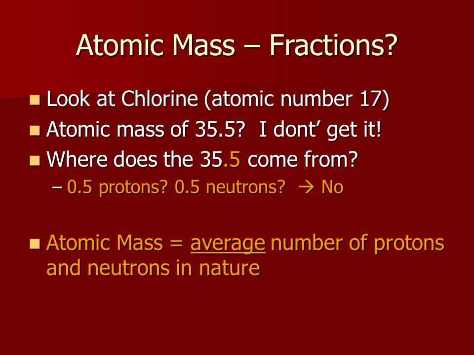 Atomic Mass – Fractions.
