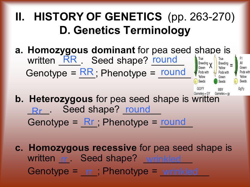 II.HISTORY OF GENETICS (pp. 263-270) D.