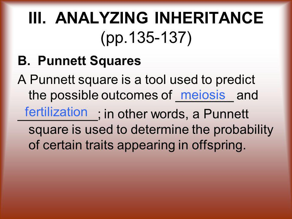 III.ANALYZING INHERITANCE (pp.135-137) B.