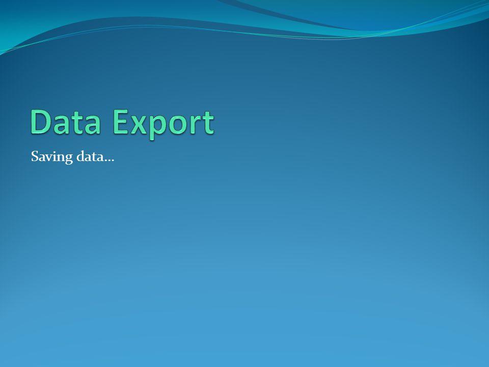 Saving data…