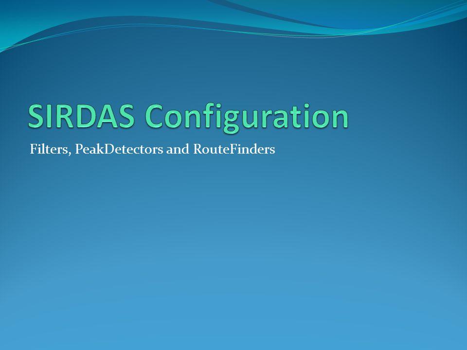 Filters, PeakDetectors and RouteFinders