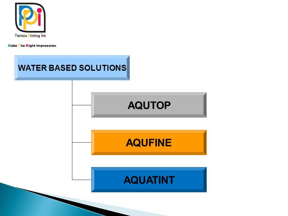 WATER BASED SOLUTIONS AQUTOP AQUFINE AQUATINT Make The Right Impression