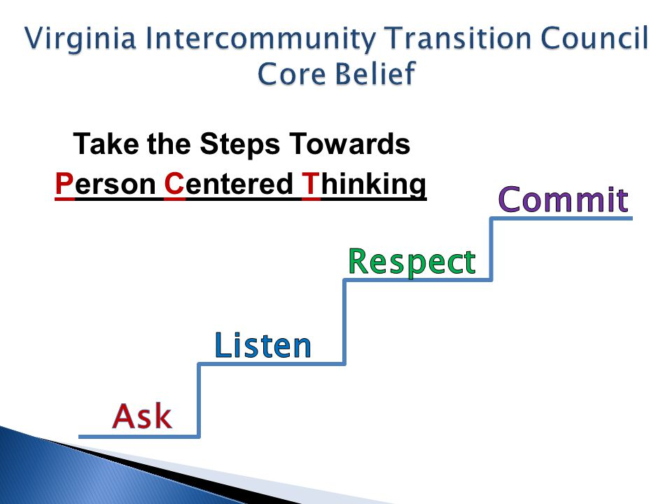 Take the Steps Towards Person Centered Thinking