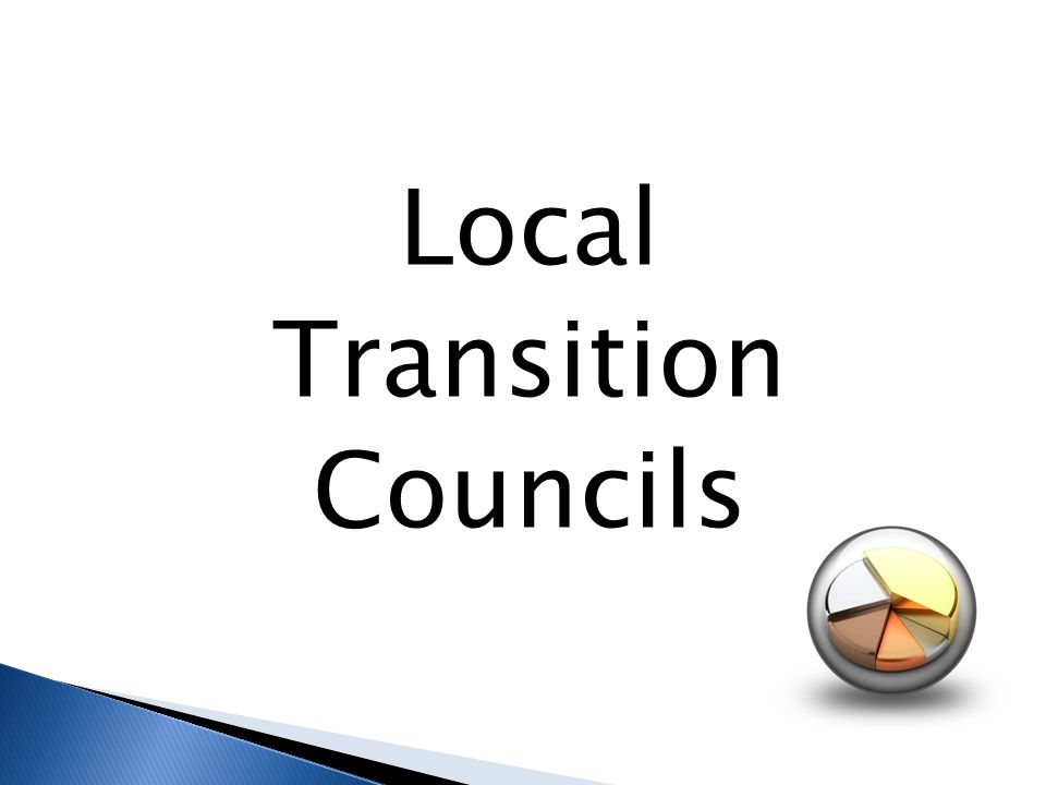 Local Transition Councils