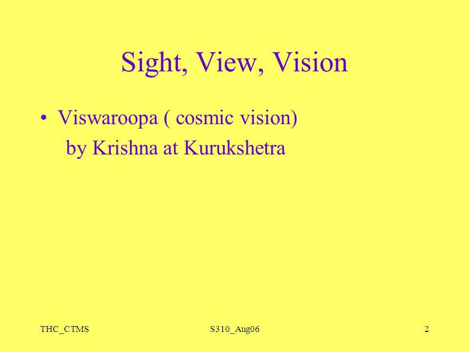 THC_CTMSS310_Aug062 Sight, View, Vision Viswaroopa ( cosmic vision) by Krishna at Kurukshetra