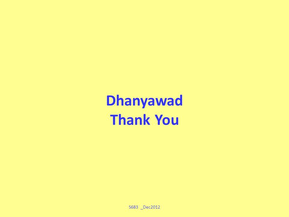 Dhanyawad Thank You S683 _Dec2012