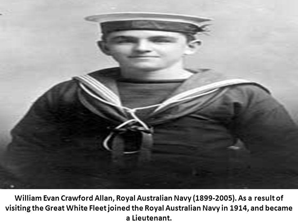 William Evan Crawford Allan, Royal Australian Navy (1899-2005).