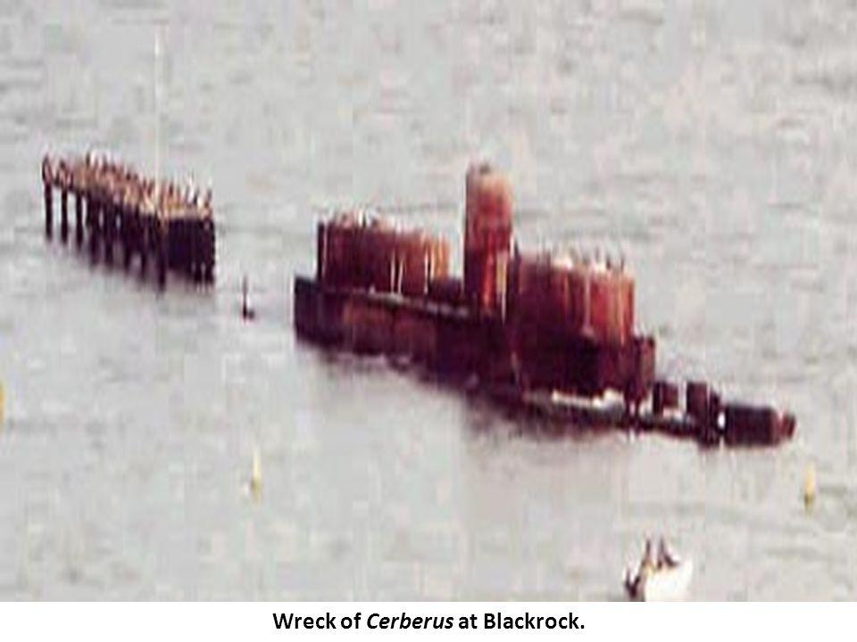 Wreck of Cerberus at Blackrock.