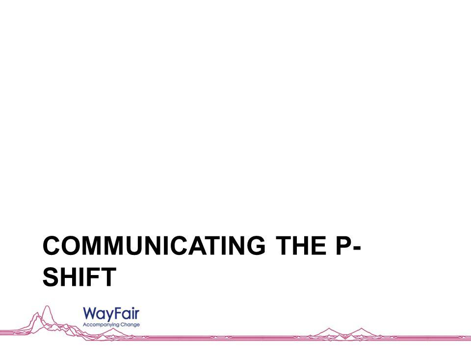 COMMUNICATING THE P- SHIFT