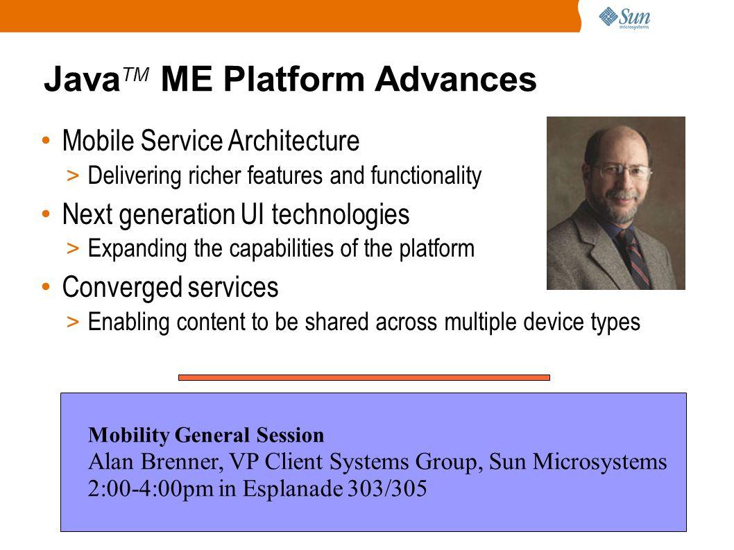 2006 JavaOne SM Conference | TK 2006 | 14 Agenda ● Java TM SE 6 - Mustang Systemic properties New features ● Java TM EE 5 ● Futures