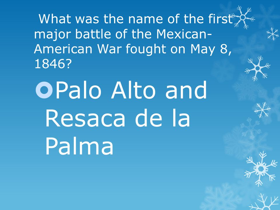 What was the name of the first major battle of the Mexican- American War fought on May 8, 1846.