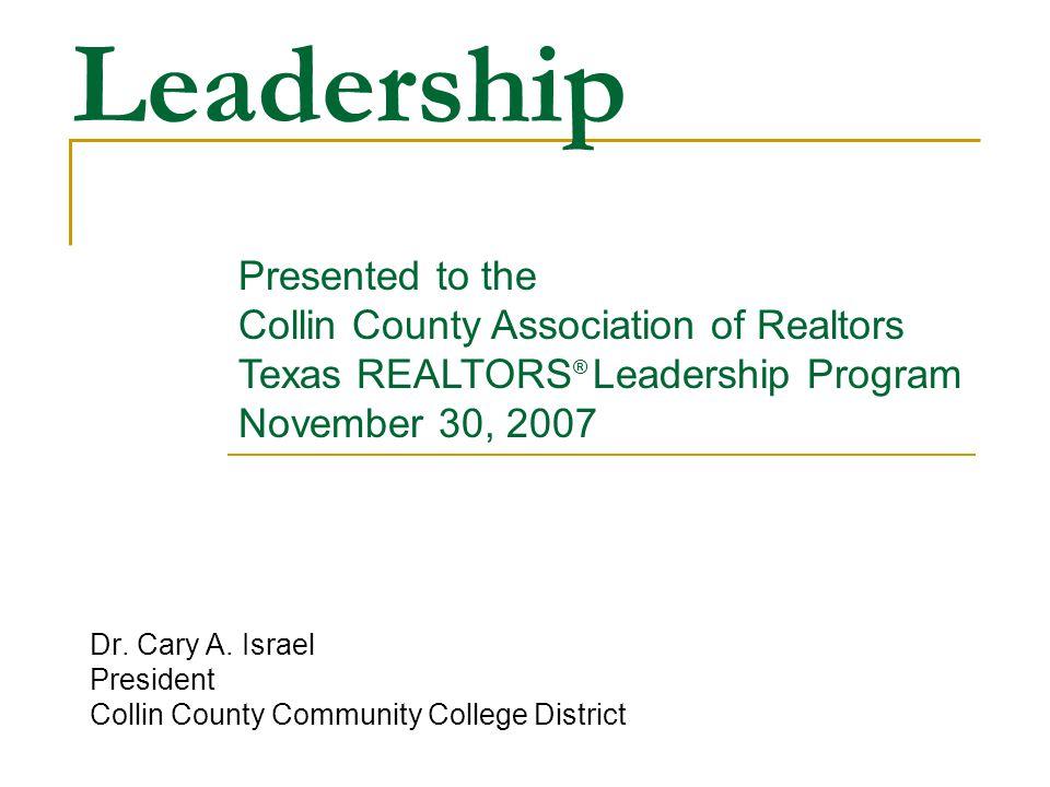 Leadership Dr. Cary A.