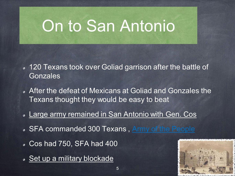 Santa Anna crosses into Texas 1835 Santa Anna crosses the Rio Grande Not a good sign........ 16