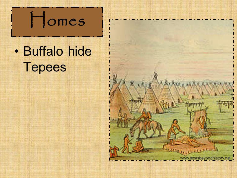 Homes Buffalo hide Tepees www.texasbeyondhistory.net