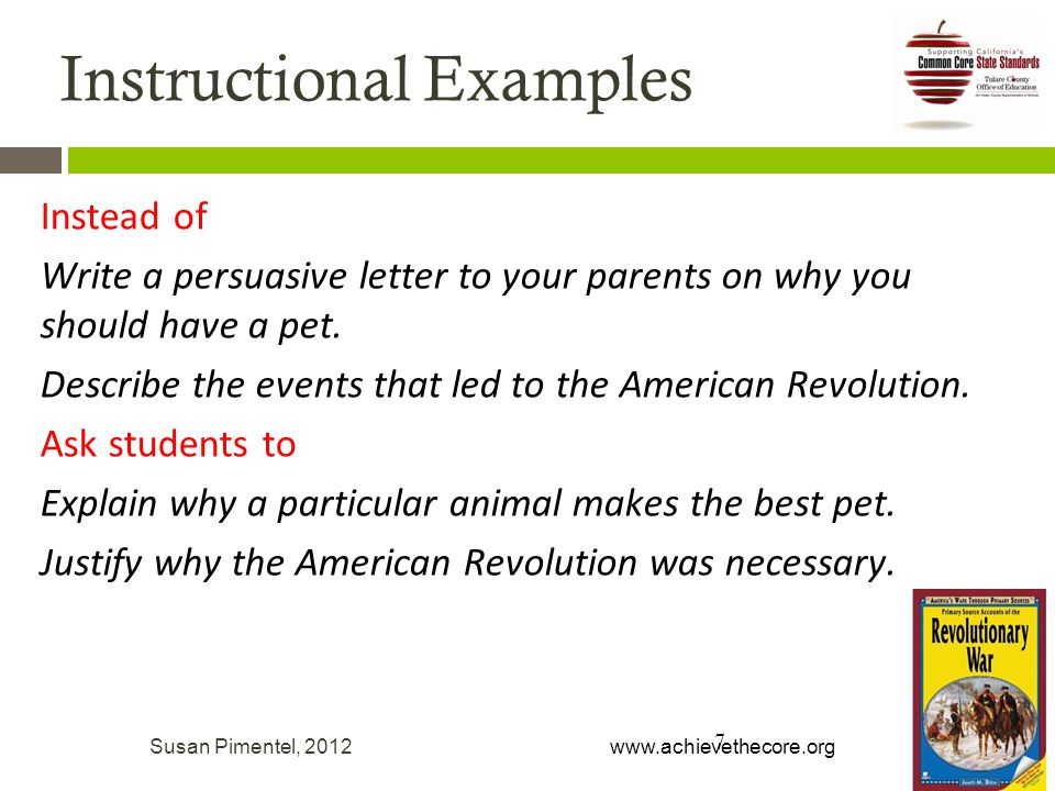 Instead of Write a persuasive letter to your parents on why you should have a pet.
