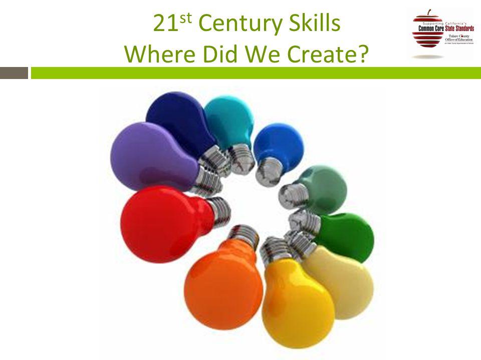21 st Century Skills Where Did We Create