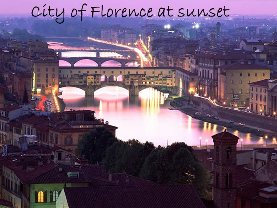 City of Florence at sunset