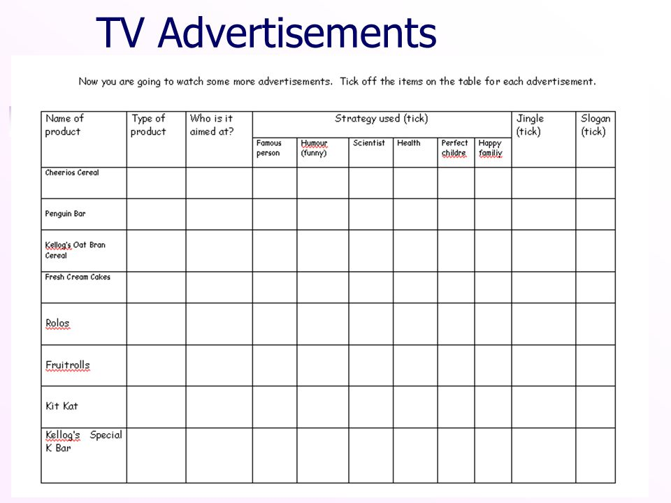 TV Advertisements