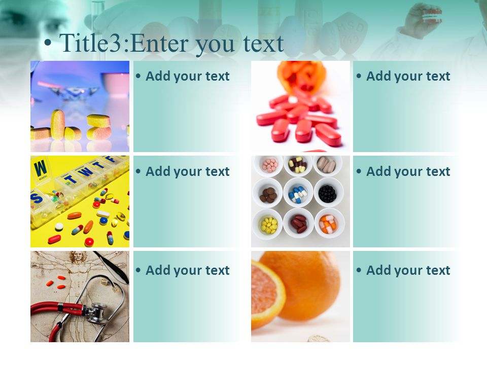 Title4:Enter you text Add your text 1 2 3 4 1 1 2 2 3 3 4 4