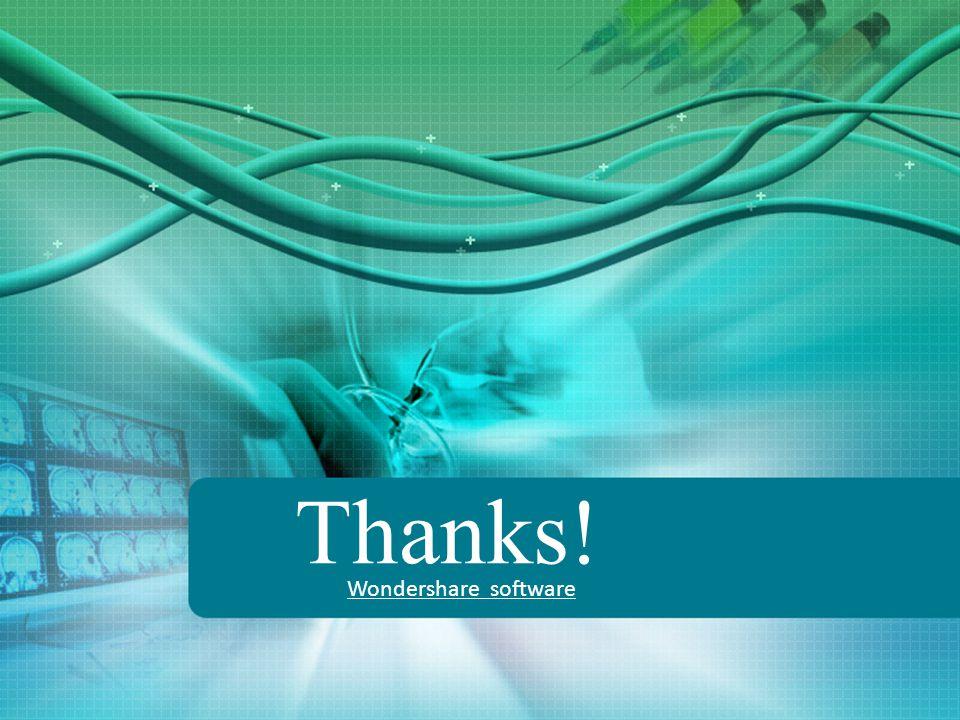 Thanks! Wondershare software