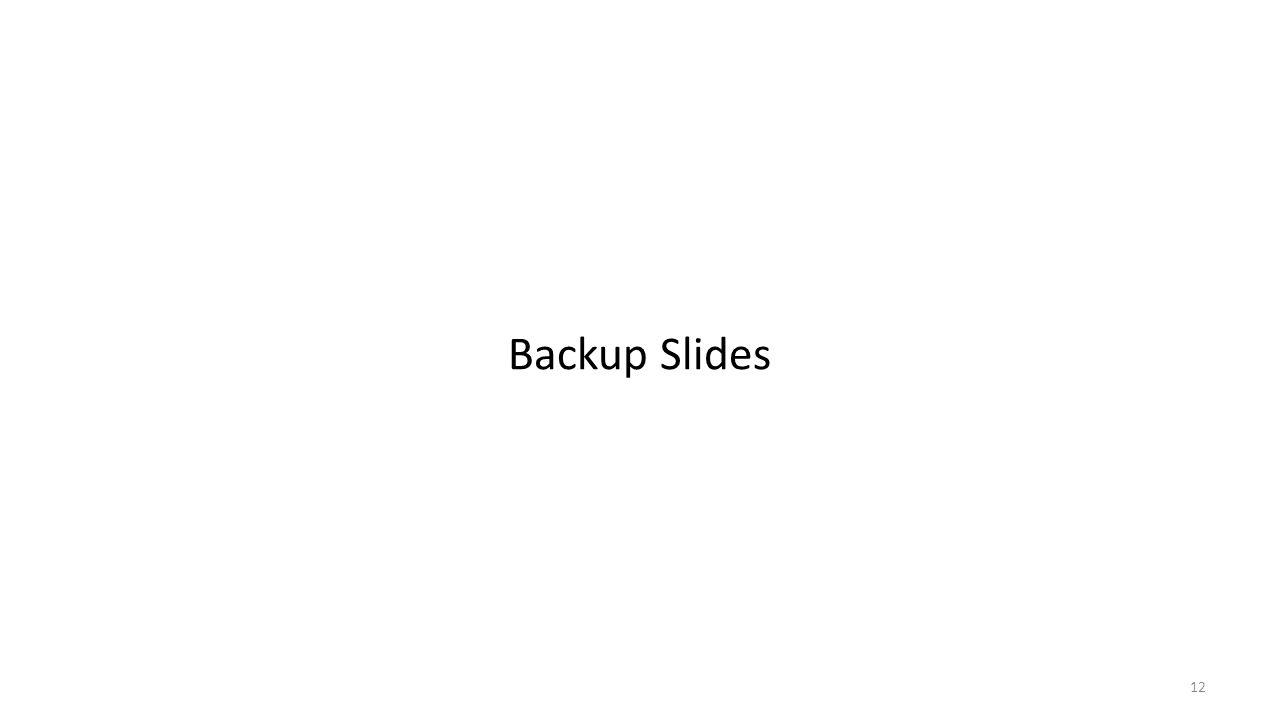 Backup Slides 12