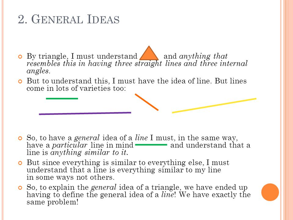 2.G ENERAL I DEAS A line is the shortest distance between any two points.