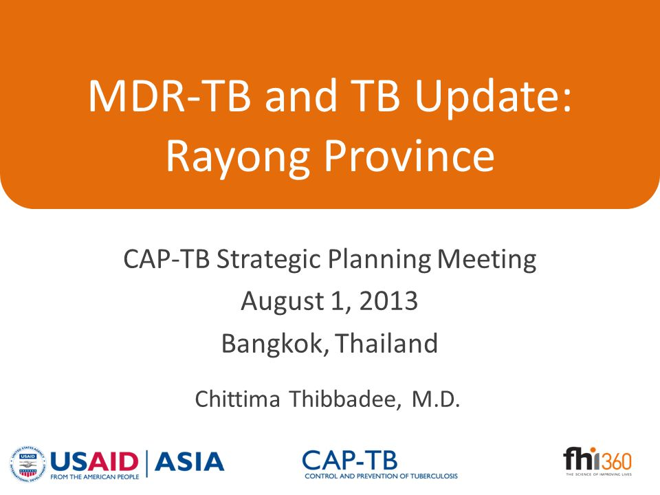 Presentation Outline Latest MDR-TB and TB prevalence At-risk populations Current effort – Prevention – Care and treatment