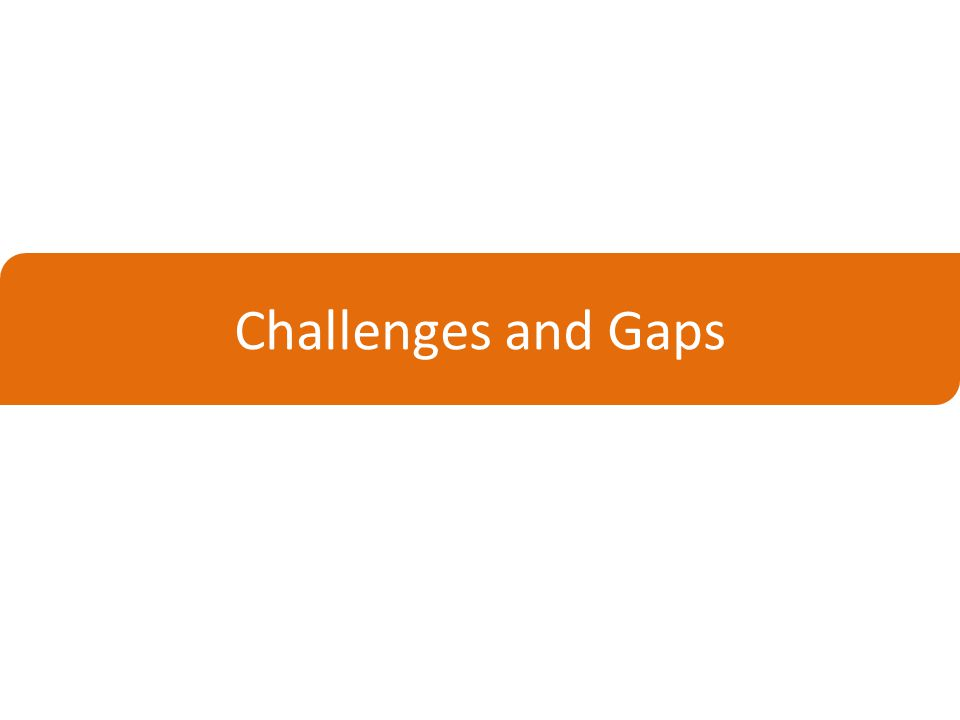 Challenges and Gaps