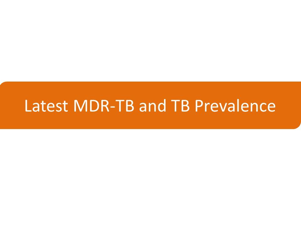 Latest MDR-TB and TB Prevalence