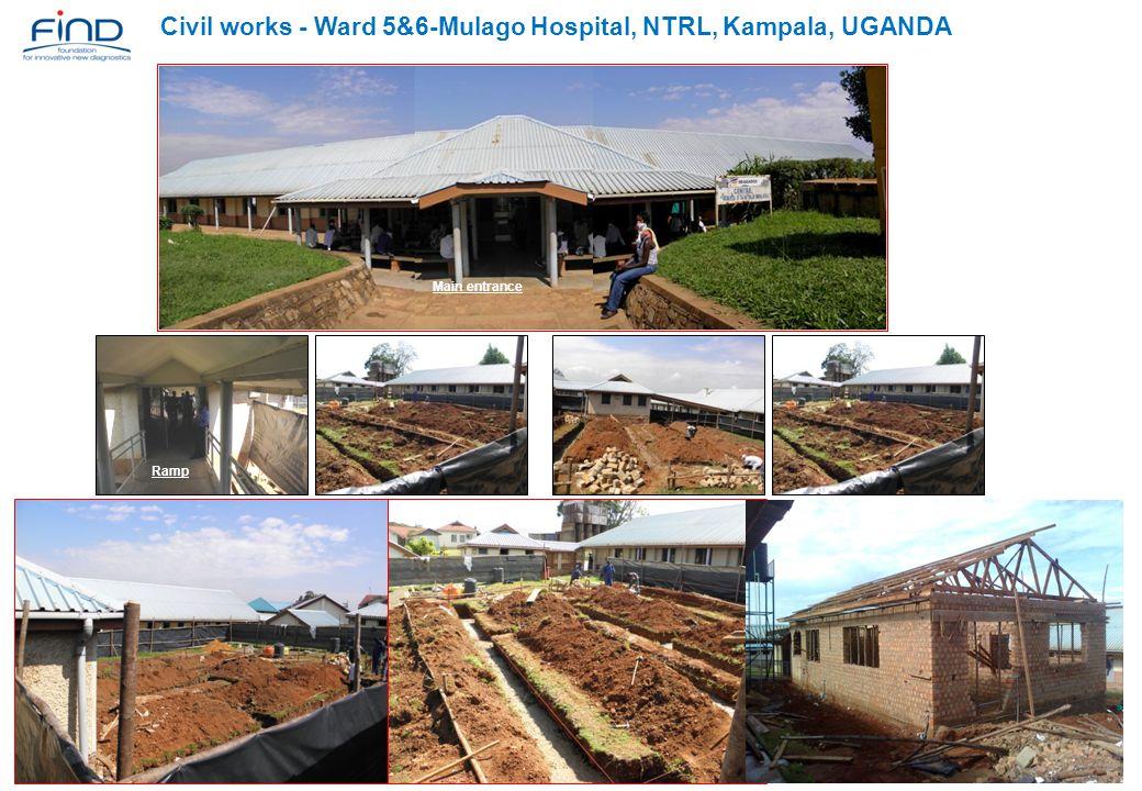 Civil works - Ward 5&6-Mulago Hospital, NTRL, Kampala, UGANDA Main entrance Ramp